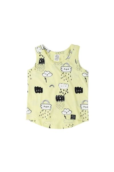 Tank Top Yellow Clouds